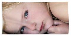 Baby Blue Eyes Beach Towel