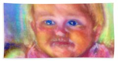 Baby Blue Eyes Beach Towel by Shirley Moravec