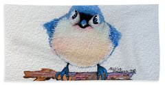 Baby Bluebird Beach Towel by Marcia Baldwin