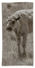 Beach Towel featuring the photograph Baby Buffalo by Rebecca Margraf