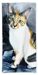 Baby - Calico Cat Painting Beach Towel