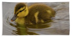 Baby Duck Beach Towel by John Roberts