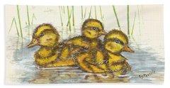 Baby Ducks For Ma Beach Towel