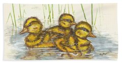 Baby Ducks For Ma Beach Sheet
