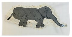 Baby Elephant  Beach Towel
