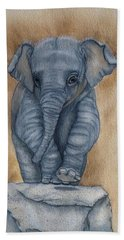 Beach Towel featuring the painting Baby Elephant  by Kelly Mills