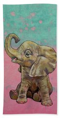 Baby Elephant Beach Sheet by Michael Creese