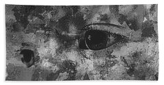 Baby Eyes, Black And White Beach Sheet