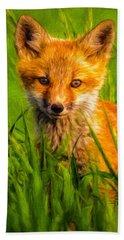 Baby Fox Beach Towel