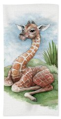 Baby Giraffe Beach Sheet