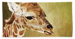 Baby Giraffe Beach Towel