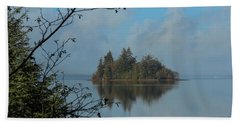 Baby Island In Willapa Bay Beach Towel by E Faithe Lester