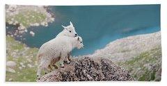 Baby Mountain Goats Beach Towel