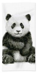 Baby Panda Watercolor Beach Towel