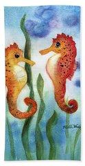 Baby Seahorses Beach Sheet