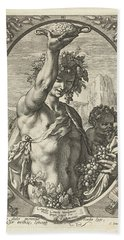 Bacchus God Of Ectasy Beach Towel by R Muirhead Art