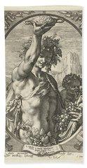Bacchus God Of Ectasy Beach Sheet