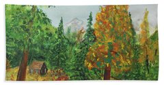 Beach Towel featuring the painting Back Country Place by Jack G Brauer