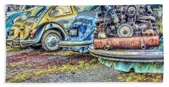 Beach Sheet featuring the photograph Back End Bugs by Jean OKeeffe Macro Abundance Art
