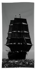 Back Lit Tall Ship Beach Towel