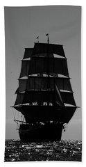 Back Lit Tall Ship Beach Sheet