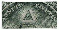 Back Of 1 Dollar Bill Beach Towel