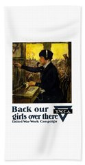 Beach Towel featuring the painting Back Our Girls Over There by War Is Hell Store