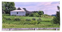 Back Road Barn Beach Sheet by Victor Montgomery