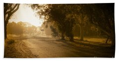 Beach Towel featuring the photograph Back Road Morning by Ray Warren