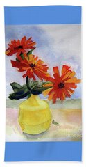 Beach Towel featuring the painting Back To Basics by Sandy McIntire