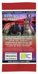 Backcountry Horsemen Join Us Poster II Beach Sheet