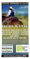 Backcountry Horsemen Join Us Poster Beach Towel