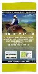 Backcountry Horsemen Join Us Poster Beach Sheet