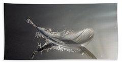 Backlit Feather Beach Towel
