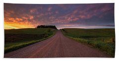 Beach Towel featuring the photograph Backroad To Heaven  by Aaron J Groen