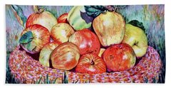 Backyard Apples Beach Towel