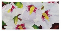 Backyard Blooms Beach Towel