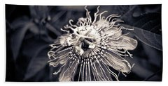 Clematis Flower Bloom Beach Sheet
