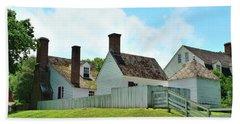 Backyard Colonial Dwellings Beach Towel