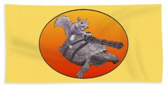 Backyard Modern Warfare Crazy Squirrel Beach Towel