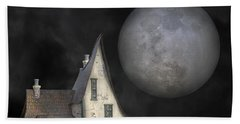 Backyard Moon Super Realistic  Beach Towel