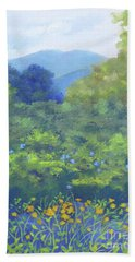 Backyard Mountain Beach Towel