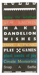 Backyard Rules Beach Towel