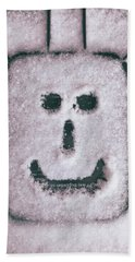 Bad Weather, Good Face Beach Towel