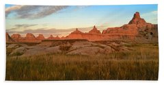 Badlands Evening Glow Beach Sheet