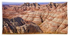 Beach Towel featuring the photograph Badlands by Mary Jo Allen