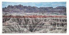Beach Towel featuring the photograph Badlands National Park Vista by Kyle Hanson