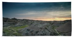 Badlands Sunset Beach Towel