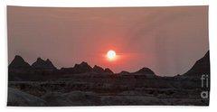 Badlands Sunset Beach Towel