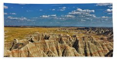 Badlands To Plains Beach Towel